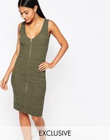 Lipsy Fleur East by Khaki Zip Through Dress