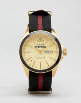 Vivienne Westwood Canvas Stripe Strap Watch
