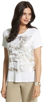 Chico's Rebecca Relaxed Foil Tee