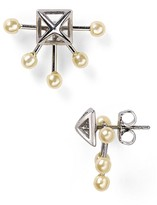 Rebecca Minkoff Pyramid Fan Stud Earrings
