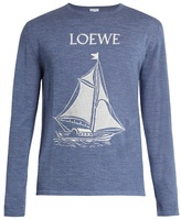Loewe Sailboat-intarsia Wool Sweater