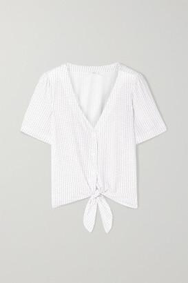 Eberjey Tropea Printed Stretch-modal Jersey Pajama Top - White