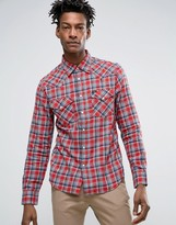 Lee Slim Fit Western Shirt Vibrant Red