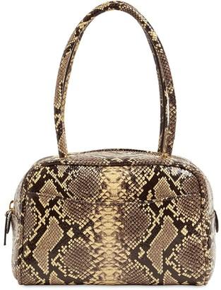 BY FAR Martin Python Printed Leather Bag