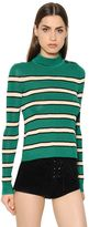 Etoile Isabel Marant Striped Knit Mock Neck Jumper