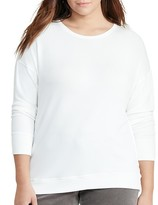 Lauren Ralph Lauren Plus Drop Shoulder Jersey Top