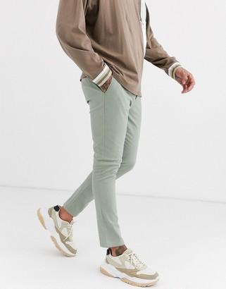 Asos Design DESIGN super skinny ankle grazer chinos in pastel green