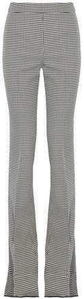 Giambattista Valli Houndstooth Wool Bootcut Pants