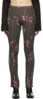 Helenamanzano SSENSE Exclusive Grey and Pink 3D Stripe Lounge Pants