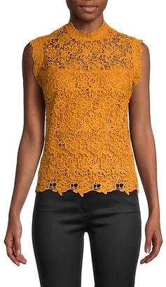 Nanette Nanette Lepore Embroidered Mockneck Top