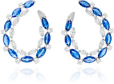 Sutra Sapphire Hoop Earrings