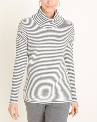 Zenergy Striped Cotton-Cashmere Blend Cozy Ribbed Sweater