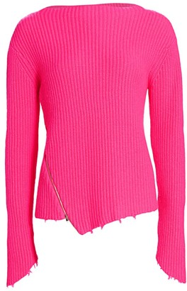 Generation Love Sadie Cashmere & Merino Wool Asymmetric Sweater