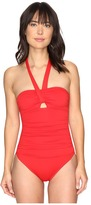 Lauren Ralph Lauren Solid Bandeau Cut Out Mio One-Piece