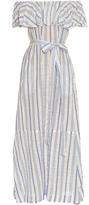 Lisa Marie Fernandez Mira off-the-shoulder striped maxi dress