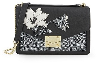 Karl Lagerfeld Paris Corinne Leather Shoulder Bag