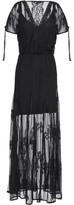 Maje Guipure Lace Maxi Dress