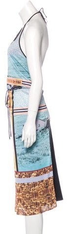 Clover Canyon Printed Halter Dress w/ Tags