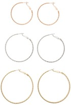 Forever 21 Metallic Hoop Earring Set