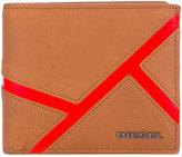 Diesel stitch detail billfold wallet