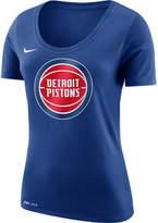 Nike Women's Detroit Pistons NBA Dry Logo T-Shirt