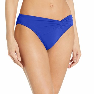 Jets Women's Illuminate Asymmetrical Twist Front Bikini Bottom