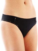 JCPenney Ambrielle Lace-Trim Cotton-Blend Bikini Panties