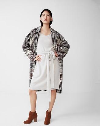 Express Slouchy Tie Sleeve Sash Waist Dress