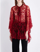Elie Saab Sheer lace top