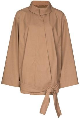 Lemaire Vareuse front-tie oversize jacket