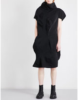 Comme des Garcons Funnel-neck exaggerated woven dress
