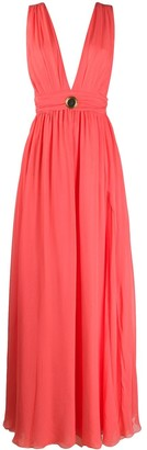 Fausto Puglisi sleeveless pleated gown
