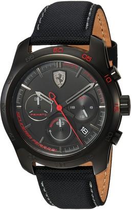 Ferrari Men's PRIMATO Stainless Steel Quartz Watch with Nylon Strap