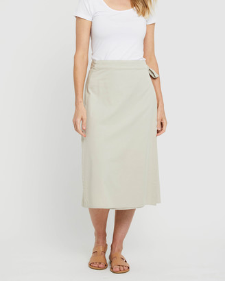 Bamboo Body - Women's Neutrals Midi Skirts - Woven Wrap Skirt - Size One Size, S at The Iconic