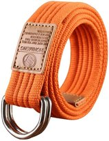 Sitong Unisex casual candy color double loop buckle canvas belt