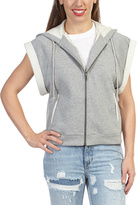 Paper Denim & Cloth Gray Malcome Short-Sleeve Zip-Up Hoodie
