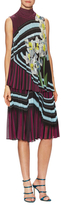 Mary Katrantzou Newberry Pleated Printed A-Line Dress