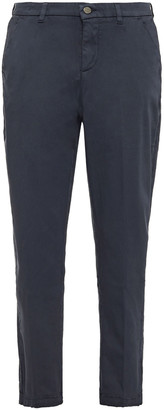 7 For All Mankind Cropped Cotton-blend Tapered Pants