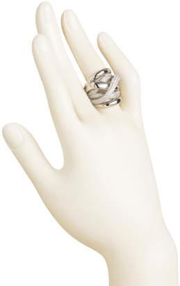 Sterling Silver Cz Snake Highway Ring