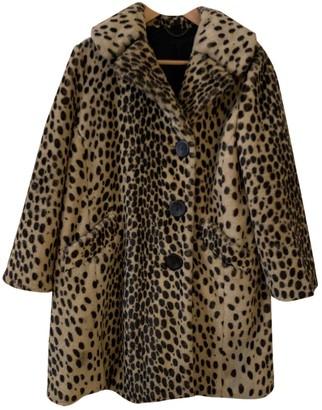 Topshop Tophop Brown Faux fur Coat for Women