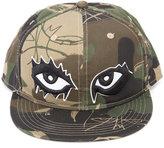 Haculla - camouflage print eyes cap - unisex - Cotton - One Size