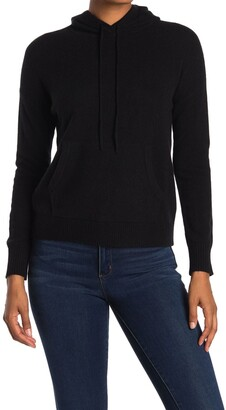 Amicale Cashmere Jersey Pullover Hoodie