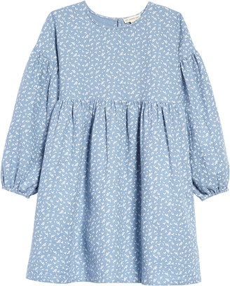 Tucker + Tate Kids' Bubble Sleeve Leaf Print Dress