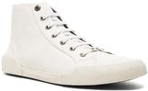 Lanvin Canvas Destroy Effect Mid-Top Sneakers