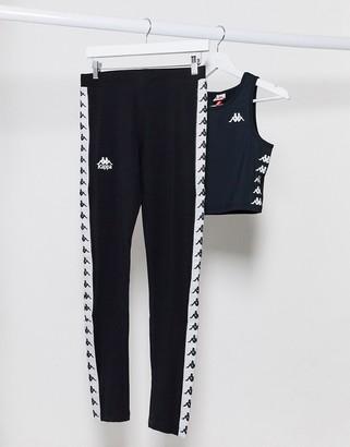Kappa leggings in black