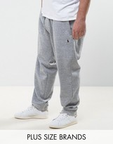 Polo Ralph Lauren Plus Cuffed Joggers Double Knit In Grey Marl