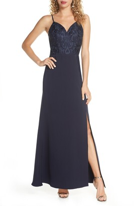 Chi Chi London Stefan Embroidered Bodice Gown