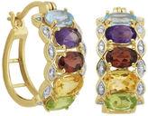 FINE JEWELRY Multi-Gemstone and Diamond-Accent Hoop Earrings