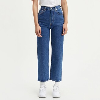 Levi's Ribcage Straight Ankle Grazer Jeans with High Waist