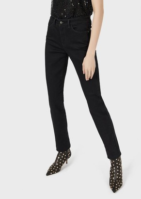Emporio Armani J18 Super Skinny Jeans In Rinse-Wash Comfort Denim